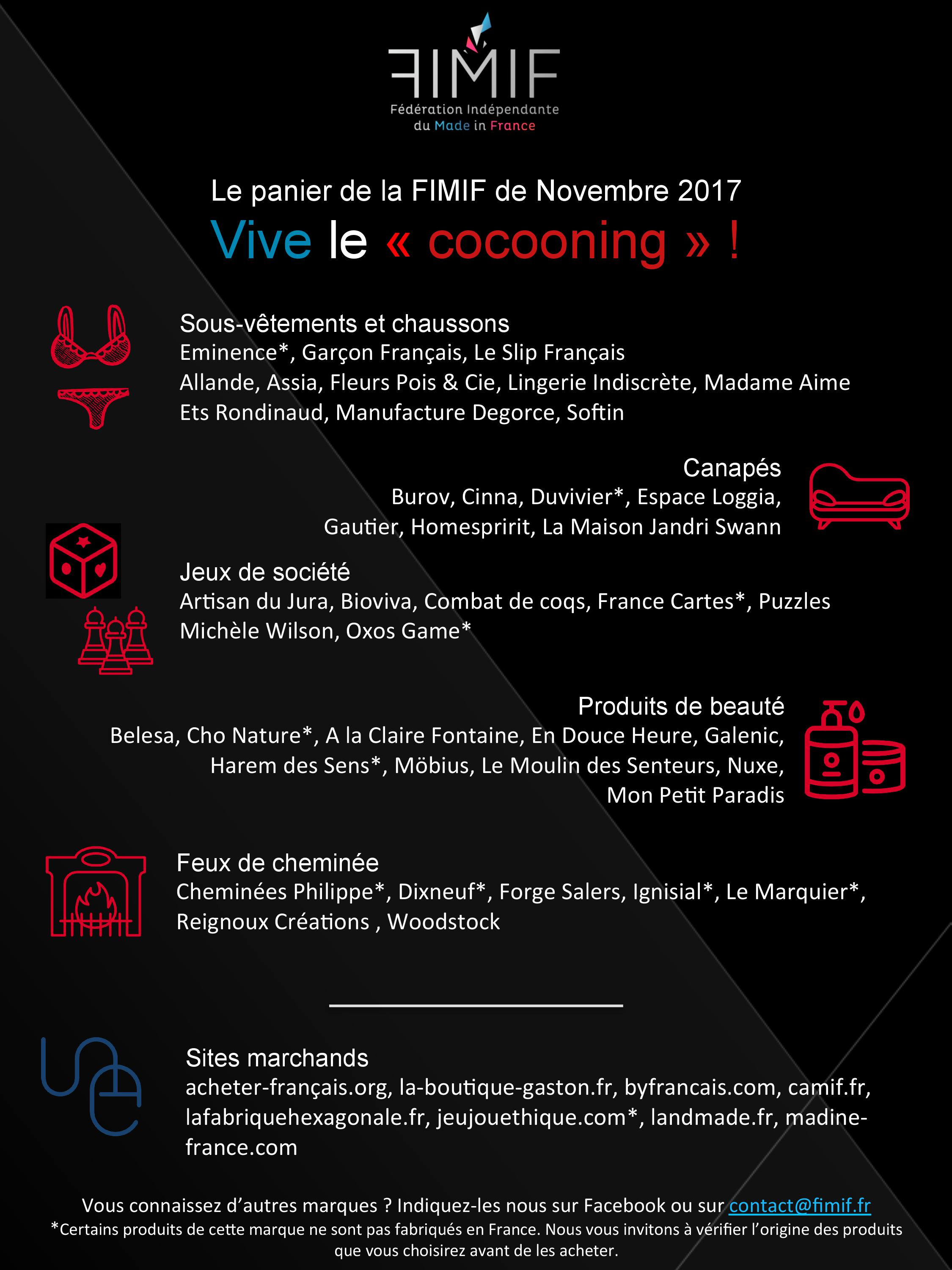 Cocooning made in france canap s feux de chemin es for Mif expo le salon du made in france 10 novembre
